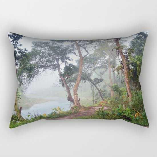Jungle in Royal Chitwan National Park, Nepal. Rectangular Pillow