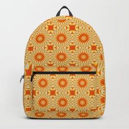 Simply Citrus Lemon Slices Floral Tiled Pattern Backpack