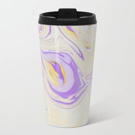 Modern pastel lavender purple yellow marble pattern Travel Mug