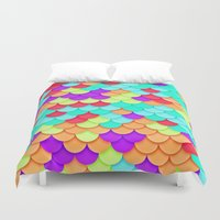scales Duvet Covers featuring Scales by White Wolf Wizard