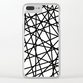 Lazer Dance Black on White Clear iPhone Case