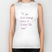 wine Biker Tanks featuring Wine by S. L. Fina