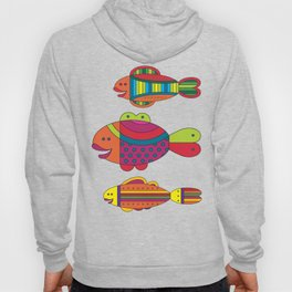 Stylize fantasy fishes under water. Hoody