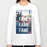 britney spears Long Sleeve T-shirts featuring FAME - BRITNEY SPEARS by Beauty Killer Art
