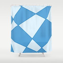 Geometric abstract - blue. Shower Curtain
