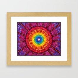 Eye of the Chakra Storm Framed Art Print