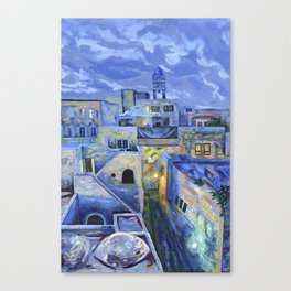 Jerusalem at Night Canvas Print