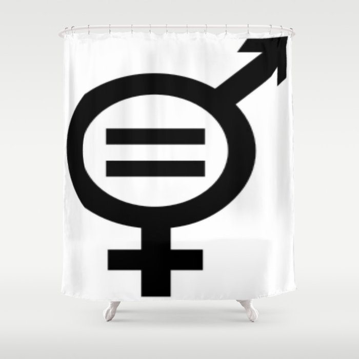 Equality Merged Male And Female Gender Symbols Shower Curtain By