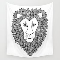 leo Wall Tapestries featuring Leo by Julie Erin Designs