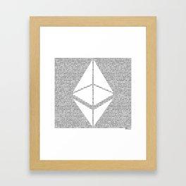 Binary Ethereum Framed Art Print