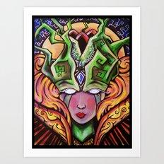 Mystical Woman Art Print