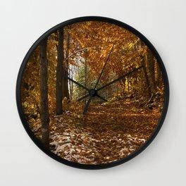 Fall Canada Wall Clock