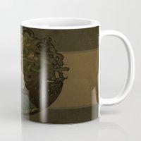 nouveau Mugs featuring Medusa Nouveau by Megan Lara