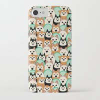 shiba inu iPhone & iPod Cases featuring Shiba Inu by Modify New York