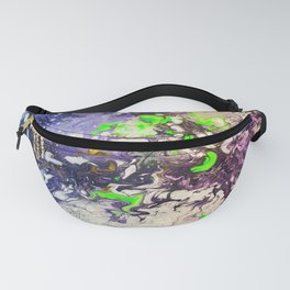 Purple and magenta abstract space art Fanny Pack