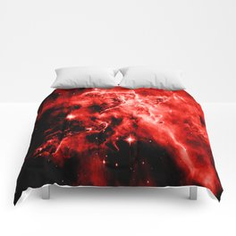 galAXY. Red Mystic Mountain Nebula Comforters