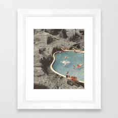 is this the place that they call paradise? Framed Art Print