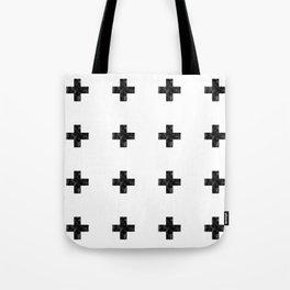 Watercolor Swiss Cross (White) Tote Bag