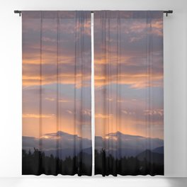 Peach Rain Blackout Curtain
