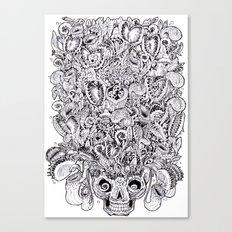Carnivore flowers Art t-shirt Creative t-shirt personalized t-shirt Drawing t shirt Abstract shirt Canvas Print
