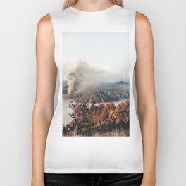 Volcano landscape Biker Tank