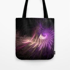 Spiralled Feathers Tote Bag