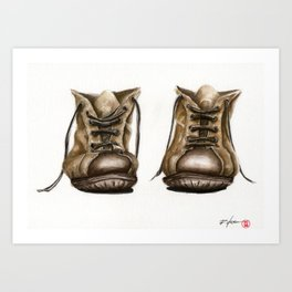 old boot Art Print