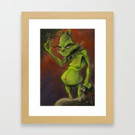 The Grinch Framed Art Print