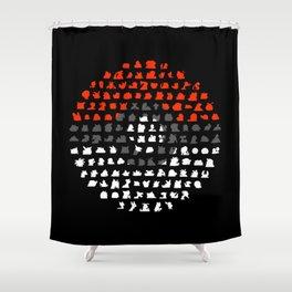 Gotta catch a bunch of 'Em Shower Curtain