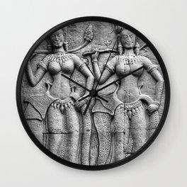 Cambodian Fertility Goddesses Wall Clock