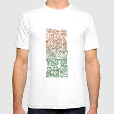 Autumn city Mens Fitted Tee White SMALL