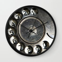 Retro rotary dial telephone Wall Clock