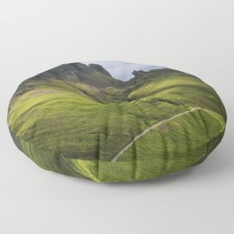 Mesmerized by the Quiraing Floor Pillow