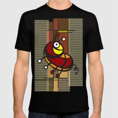 Deco Parrot Black Mens Fitted Tee MEDIUM