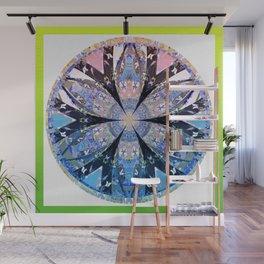 Six Sided Floral Sacred Geometry Portal Modern Mandala Wall Mural