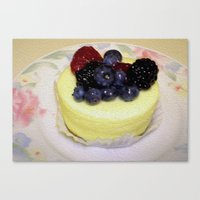 dessert Canvas Prints featuring Dessert! by Stephanie L Dailey