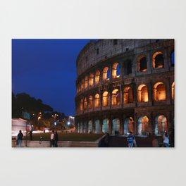 Rome at night Canvas Print