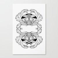 crab Canvas Prints featuring Crab by dieanderwolf