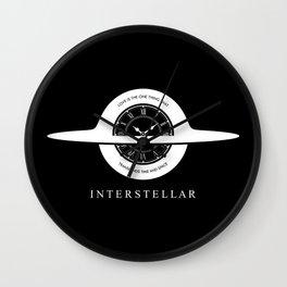 Interstellar - Gargantua minimalist + quote Wall Clock