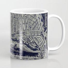 Blueprint Map of Amsterdam Coffee Mug