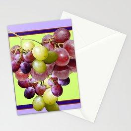 CLUSTER WINE GRAPES VINEYARD DESIGN Stationery Cards