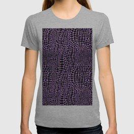 Neon crocodile/alligator skin T-shirt