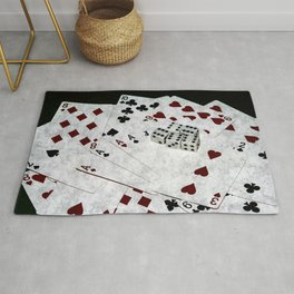 Playing Cards Dices Good Luck Rug