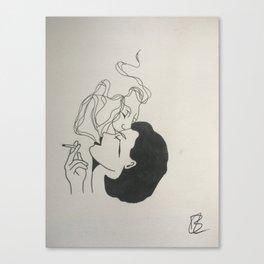 Smokey kiss Canvas Print