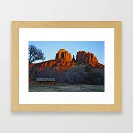 Red Rock AZ Framed Art Print