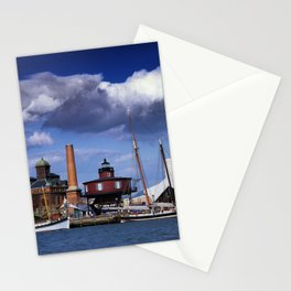 Seven Foot Knoll Lighthouse in Baltimore Harbor Stationery Cards