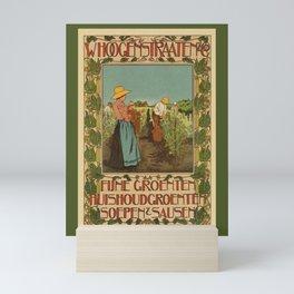 Dutch belle epoque vegetables advertising Mini Art Print