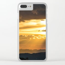 Mount Evans Sunset Clear iPhone Case