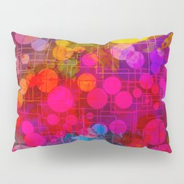 Rainbow Bubbles Abstract Design Pillow Sham