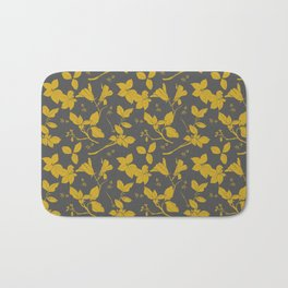 Drawings from Stonecrop Garden, Pattern in Gold & Grey Bath Mat